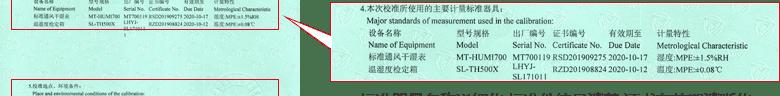 温湿度计CNAS校准证书说明页4