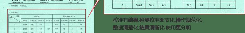 温湿度计CNAS校准证书结果页2